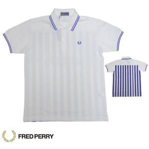 FRED PERRY フレッドペリー バックプリント ポロシャツ F1534 ホワイト×ロイヤル|usual