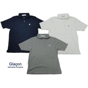 Glacon グラソン ラウンド カラー 半袖 ポロシャツ カットソー|usual