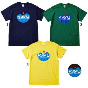 KAVU カブー メンズ 定番ロゴ プリントTシャツ TEE 缶バッチ付き usual