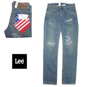 Lee HERITAGE TIGHT CLASH タイト デニム メンズ ダメージ デニム LM1305-546|usual