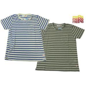 melple メイプル ボーダー ポケット CALIFORNIA DRY Tシャツ COOL MAX usual