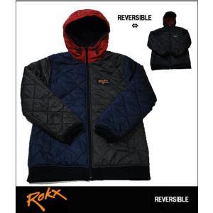 ROKX ロックス キルティング フーディー リバーシブル キルティング ジャケット クレイジー メンズ レディース|usual