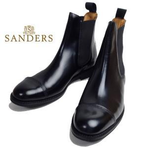 SANDERS サンダース チェルシーブーツ サイドゴアブーツ ブラック メンズ ブーツ 1140|usual