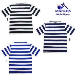 SAINT JAMES セントジェームス メンズ レディース 半袖 ウエッソン ワイドボーダー Tシャツ カットソー|usual
