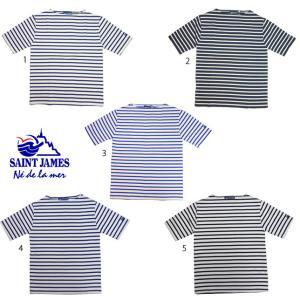 SAINT JAMES セントジェームス ウエッソン 半袖 ボーダー バスクシャツ メンズ レディース|usual
