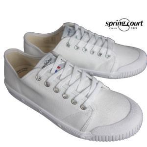 spring court スプリングコート G2 Classic Canvas キャンバススニーカー ホワイト メンズ G2N1|usual