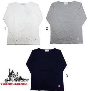 VINCENT ET MIREILLE ヴァンソン エ ミレイユ ボートネック ロングスリーブティー 長袖 Tシャツ|usual