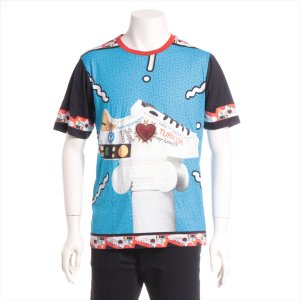 ドルチェ&ガッバーナ コットン Tシャツ 44 メンズ ブルー 品質表示タグ切られ|usus