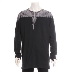 マルセロバーロン コットン Tシャツ XL メンズ ブラック フェザープリント|usus