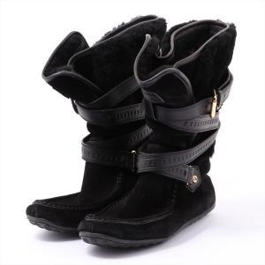 ヴィトン ムートン ブーツ 37.5 レディース ブラック|usus