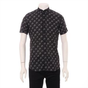 サンローラン コットン シャツ メンズ ブラック ブラッドラスター|usus