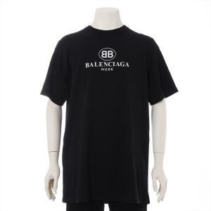 バレンシアガ コットン Tシャツ XS メンズ ブラック 18SS BBロゴ|usus