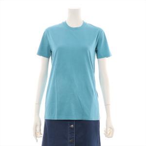 プラダ コットン Tシャツ XS メンズ ターコイズ バッグ三角ロゴ|usus