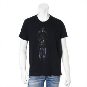 プラダ コットン Tシャツ M レディース ブラック パッチデザイン|usus