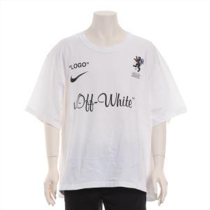 ナイキxオフホワイト コットン Tシャツ XXL メンズ ホワイト 18SS Football Collection Tee|usus