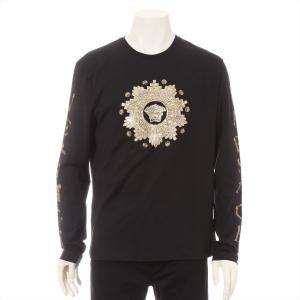ヴェルサーチ コットン Tシャツ L メンズ ブラック メデューサ|usus