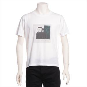 サンローランパリ コットン Tシャツ L メンズ ホワイト|usus