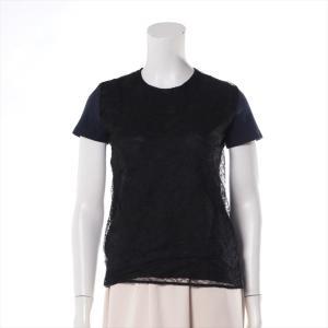 プラダ ビスコース Tシャツ Sサイズ レディース ネイビー|usus