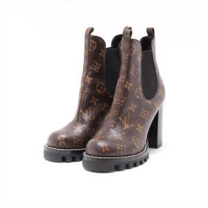 ヴィトン PVC ブーツ 35 1/2 レディース ブラウン 箱付き|usus