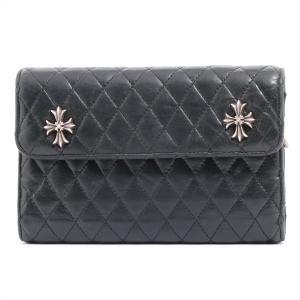 クロムハーツ 財布 レザー 3スナップ キルテッド ウェーブウォレット|usus