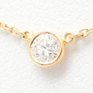 ティファニー Tiffany & Co. ダイヤモンド バイザヤード ネックレス 750YG