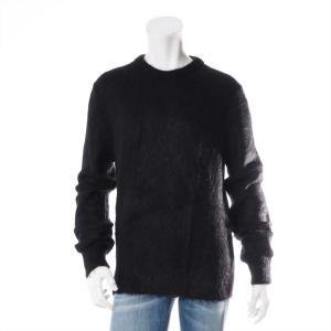 サンローランパリ ウール セーター Mサイズ メンズ ブラック モヘア|usus