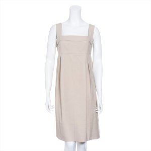 フォクシー ポリエステル スカート 42 レディース ベージュ サマーデイジードレス|usus