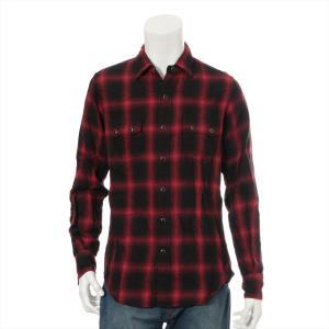 サンローランパリ コットン シャツ Sサイズ メンズ レッド チェック|usus