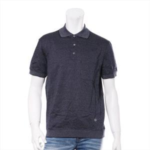 ヴィトン コットン ポロシャツ M メンズ ネイビー オックスフォード|usus