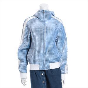 シャネル ポリエステル パーカー サイズ40 レディース ブルー シアサッカー ジャケット P55(2018SS) usus