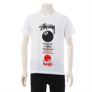 コムデギャルソンxステューシー コットン Tシャツ M メンズ ホワイト|usus