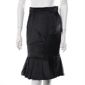 クリスチャンディオール アセテート スカート サイズS レディース ブラック|usus