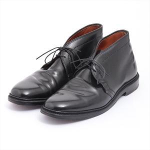 オールデン レザー ブーツ 7 メンズ ブラック コードバン チャッカブーツ 1340