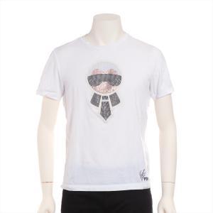 フェンディ コットン Tシャツ サイズ48 メンズ ホワイト カールラガーフェルド|usus