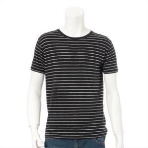 サンローランパリ コットン Tシャツ サイズM メンズ ブラック|usus