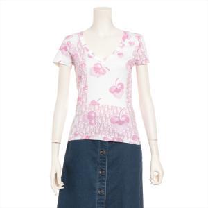 クリスチャンディオール コットン Tシャツ 38 レディース ピンク トロッター|usus