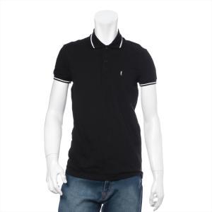 サンローランパリ 鹿の子 ポロシャツ サイズS メンズ ブラック|usus