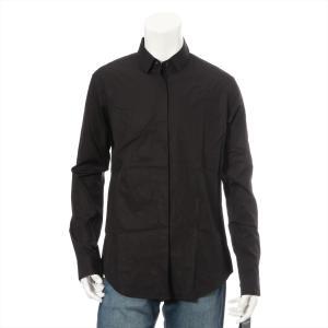 サンローランパリ コットン シャツ サイズF38 メンズ ブラック|usus