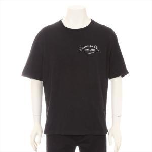 ディオールオム コットン Tシャツ XL メンズ ブラック|usus