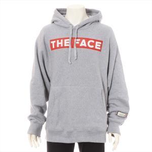 グッチ コットン パーカー M メンズ グレー THE FACE|usus