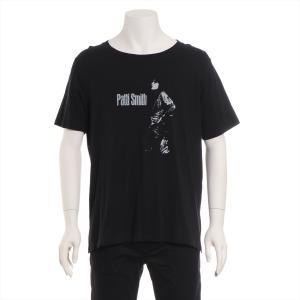 サンローランパリ コットン Tシャツ XL メンズ ブラック Patti Smith|usus