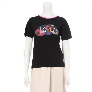 サンローランパリ コットン Tシャツ XS レディース ブラック|usus