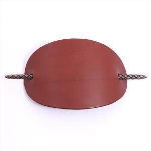 ボッテガヴェネタ ヘアピン レザーx925 ブラウン かんざし 箱付き|usus