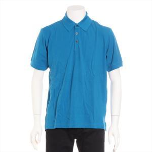 エルメス コットン ポロシャツ XS メンズ ブルー セリエボタン|usus