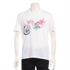 プラダ コットン Tシャツ L メンズ ホワイト|usus