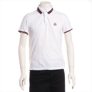 モンクレール コットン ポロシャツ S メンズ ホワイト|usus