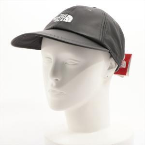 シュプリームxノースフェイス キャップ FREE レザー ブラック LEATHER 6-PANEL HAT NN418041 usus