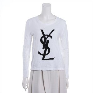 イヴサンローラン コットン Tシャツ L レディース ホワイト|usus
