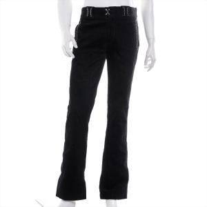 エヌハリウッド ベロア パンツ メンズ ブラック スタッズ ブーツカット|usus