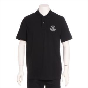 モンクレール コットン ポロシャツ M メンズ ブラック 2 モンクレール 1952|usus